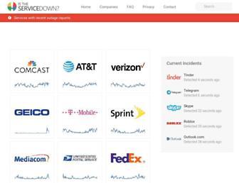 istheservicedown.com screenshot