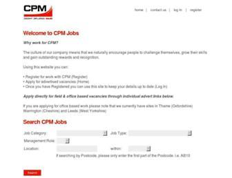 cpmjobs.co.uk screenshot