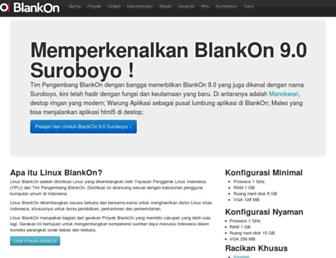 Main page screenshot of blankonlinux.or.id