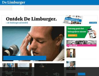 Main page screenshot of limburger.nl