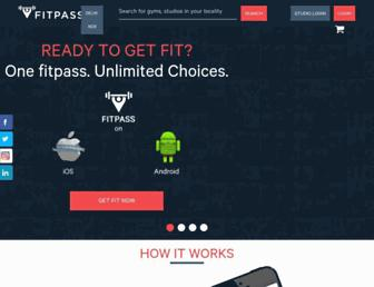 fitpass.co.in screenshot