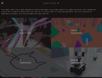 experiments.withgoogle.com screenshot