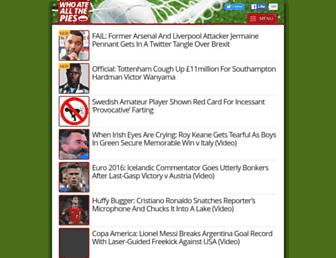 Main page screenshot of whoateallthepies.tv