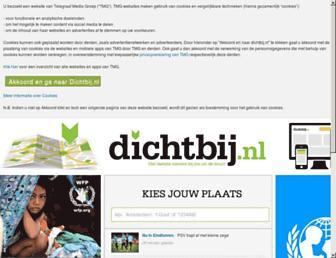 Main page screenshot of dichtbij.nl