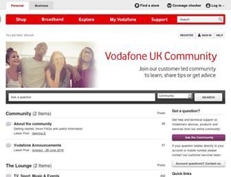 forum.vodafone.co.uk screenshot