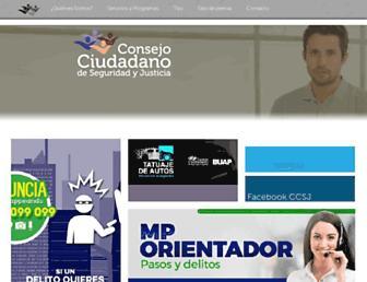 Main page screenshot of consejociudadanopuebla.org