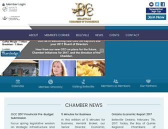 bellevillechamber.ca screenshot