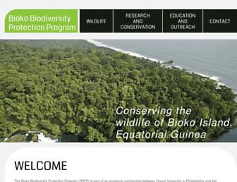 Main page screenshot of bioko.org