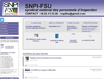Main page screenshot of snpi-fsu.org