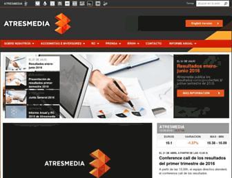 atresmediacorporacion.com screenshot