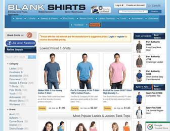 Thumbshot of Blankshirts.com
