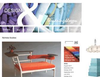 Main page screenshot of inredningsbloggen.blogg.se