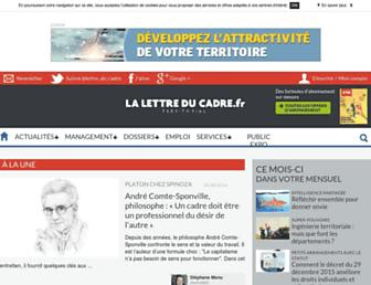 Main page screenshot of lettreducadre.fr