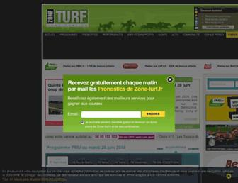 zone-turf.fr screenshot