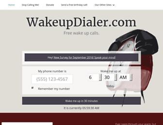 wakeupdialer.com screenshot