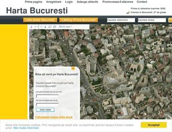 Main page screenshot of bucuresti.com.ro