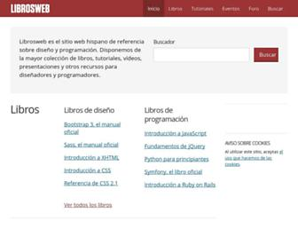 Main page screenshot of librosweb.es