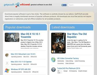 getpcsoft.wikisend.com screenshot