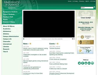 manoa.hawaii.edu screenshot