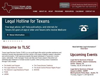 Main page screenshot of tlsc.org