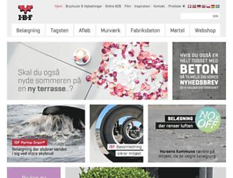 Main page screenshot of ibf.dk