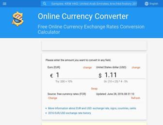 freecurrencyrates.com screenshot