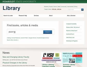 library.humboldt.edu screenshot