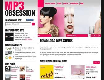 mp3obsession.com screenshot