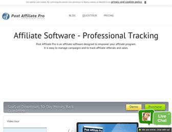 postaffiliatepro.com screenshot