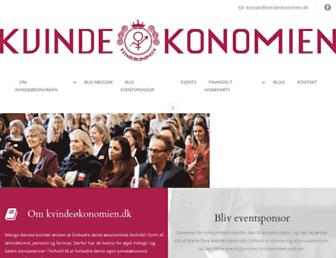 kvindeokonomien.dk screenshot