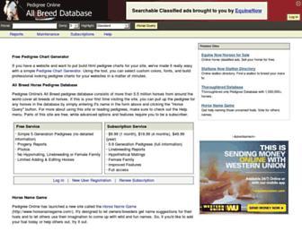 allbreedpedigree.com screenshot