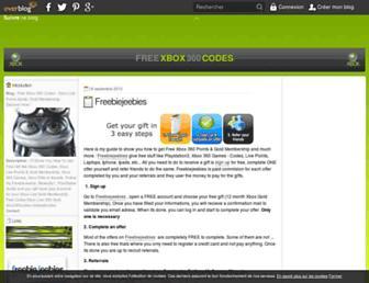 freexbox360codes.over-blog.com screenshot