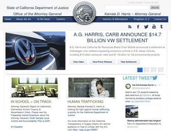 oag.ca.gov screenshot