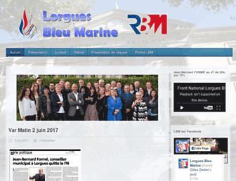 lorguesbleumarine.fr screenshot