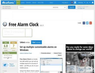 free-alarm-clock.en.softonic.com screenshot