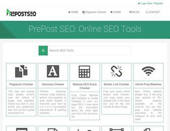 prepostseo.com screenshot