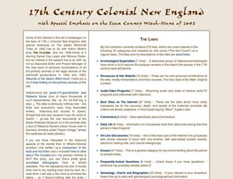 Main page screenshot of 17thc.us