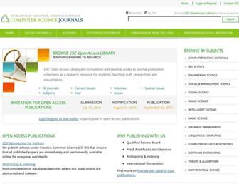 cscjournals.org screenshot