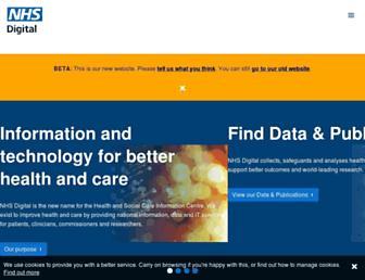 digital.nhs.uk screenshot