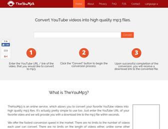 theyoump3.com screenshot