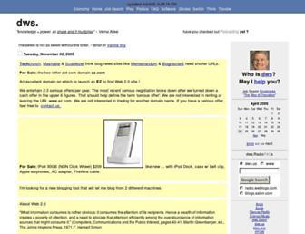 Main page screenshot of dws.us