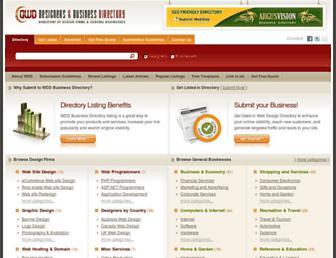 Main page screenshot of web-designers-directory.org