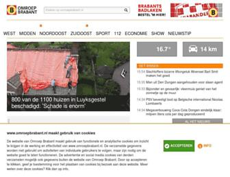 Main page screenshot of omroepbrabant.nl