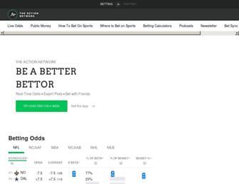 actionnetwork.com screenshot