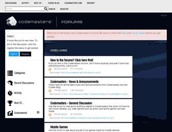 forums.codemasters.com screenshot
