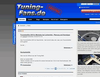 Main page screenshot of tuning-fans.de