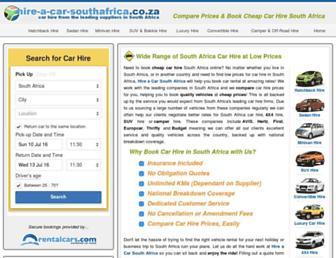 hire-a-car-southafrica.co.za screenshot