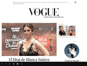 Main page screenshot of blogs.vogue.es