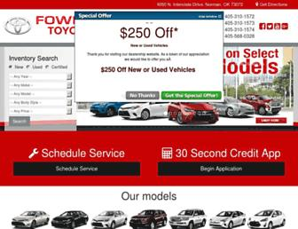 fowlertoyota.com screenshot