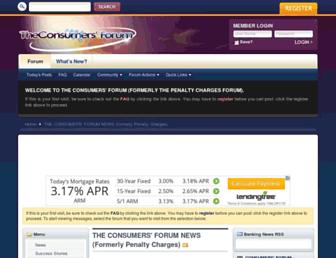 Main page screenshot of penaltychargesforum.co.uk